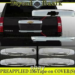 07-14 CHEVY TAHOE SUBURBAN Chrome Top Tailgate+Lower Liftgate+Door Handle COVERS