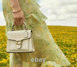 100% authentic BNWT COACH TABBY20 Top Handle LEATHER BAG CHALK RRP£395