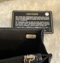 1000% AUTH 2020 Chanel Circular Top Handle Mini Square Caviar GHW Bag