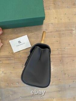 1000% AUTHENTIC! Goyard Saigon Top Handle Mini Grey Gray Leather Bag