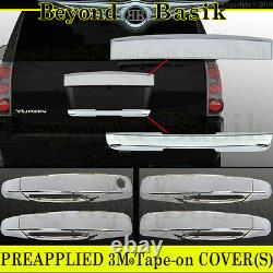2007-2014 GMC YUKON/XL Chrome Top Tailgate+Lower Liftgate+Door Handle COVERS