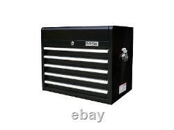 27 Top Box, 5 Drawer Professional Tool Chest Storage Unit Base Brand Black