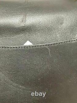 $395 COACH Women's Black Leather Tabby Parker Top Handle Shoulder Bag Vintage
