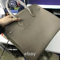 40cm Genuine Leather Shopper Tote Handbag Top Handle Satchel