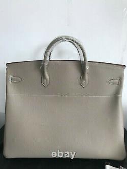 50cm Genuine Leather Shopper Tote Handbag Top Handle Satchel