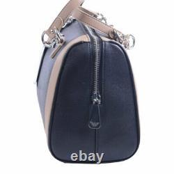ARMANI JEANS 922922 Womens Handbag Zipped Ladies Shoulder Top Boston Bag Beige