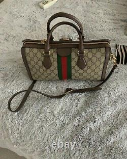 AUTHENTIC GUCCI Ophidia GG medium top handbag, PREOWNED. NO DUST BAG OR BOX