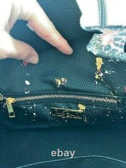 Anca Barbu Satchel Black Top Handle Not A Birkin Leather Bag Handbag Large New