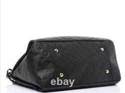 Auth Louis Vuitton Artsy MM Black Top Handle/Shoulder Handbag -Tote