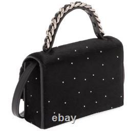 BOYY FRED STAR CALF HAIR black top handle shoulder bag(SILVER BUCKLE) $985