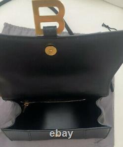 Balenciaga Black Hourglass XS Top Handle Bag