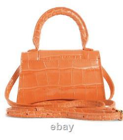 Balenciaga Hourglass Mini Leather Top Handle Crossbody Bag ORANGE Sold Out RARE