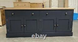 Bespoke Solid Sideboard Storage Cupboard With Oak Top Any Size Or Colour