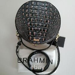 Brahmin Lane Top Handle Circle Dusk Twilight Canteen Leather Crossbody Bag NWT