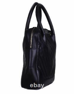 CHANEL Black Chevron Leather Gold Chain Top Handle Shoulder Bag Purse Tote