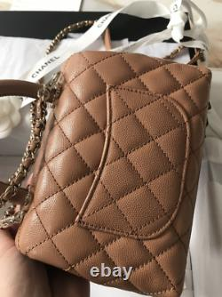 CHANEL Caramel Coco Top Handle Mini 21P Sold Out Brand New Full Set