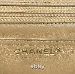 CHANEL Caviar Vintage Beige Clair Kelly Top Handle Bag 24k GHW MINT