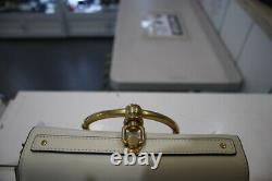 CHLOE Nile Small Bracelet Top Handle Bag Suede&Calfskin Leather Cream With Strap