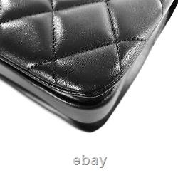 Chanel 2020 Black Quilted Lambskin Small Trendy CC Top Handle Bag Gold Hardware