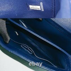 Chanel Authentic 2019 Shoulder Crossbody Tote Purse Trendy Blue Bag Top Handle