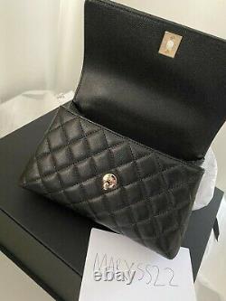 Chanel Matelasse Caviar Coco Small (mini) Top Handle Flap Bag