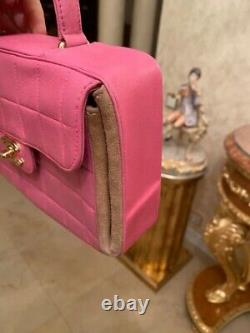 Chanel VINTAGE pink Bag With Top Handle And Gold Hardware