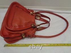 Chloe Paraty Top Handle Bag Leather small/Medium 2 way crossbody Red
