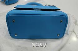 Christian Dior Be Dior Top Handle Flap Shoulder Blue Bag Excellent & Authentic