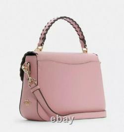 Coach 1650 Marlie Top Handle Satchel Handbag Pink Whipstitch Leather Bag NWT