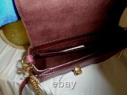 Coach 77897 Leather Cassidy Top Handle Satchel Crossbody Handbag Dark Berry Bag