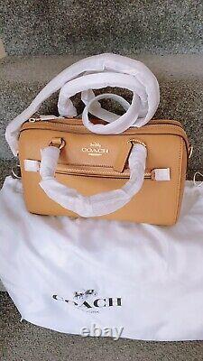 Coach F79946 Rowan Satchel Top Handle Bag in Saddle Crossgrain Leather