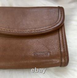 Coach Regina Vintage Leather 9983 Handle Crossbody Top Tan Purse Bag Wallet Also
