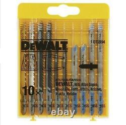 DeWalt DCS334N 18v XR Cordless Brushless Top Handle Jigsaw Bare + TSTAK + Blades