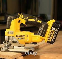 DeWalt DCS334N 18v XR Cordless Brushless Top Handle Jigsaw Bare & TSTAK Case