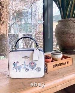 Disney X Coach Cinderella Crossbody Box Bag Purse Top Handle NWT InHand