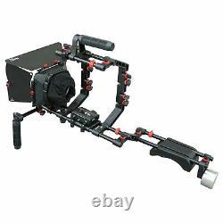 Filmcity Shoulder Rig Cage top handle matte box dslr FC-02 kit fr tripod camera