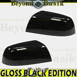 For 2007-2021 TOYOTA TUNDRA GLOSS BLACK Mirror Covers Overlays Non Towing Top