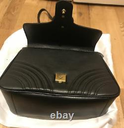 GUCCI GG Marmont Mini Top Black Handle Bag