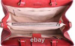 GUCCI Marmont Red Leather Top Handle Crossbody Shoulder Bag Purse