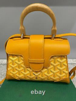 Goyard Saigon Top Handle Mini Yellow Leather Bag