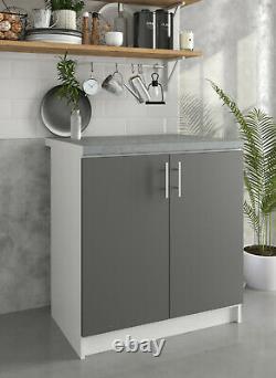 Greta Kitchen 800 Base Unit Dark Grey