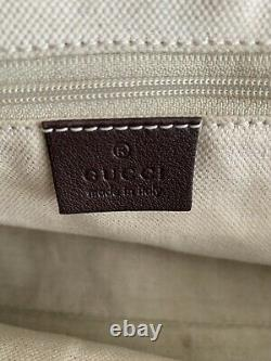 Gucci Double GG Guccissima Brown Top Handle Leather Handbag