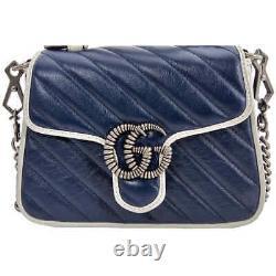 Gucci GG Marmont Mini Top Handle Bag 583571 0OLFN 4186