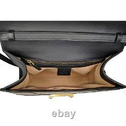 Gucci Osiride Leather Snakeskin GG Medium Top Handle Bag