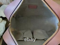 Gucci Pink Microguccissima Leather Crossbody Top Handle Zip Bag 510286