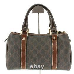 Gucci Supreme GG Monogram Vintage Mini Speedy Top Handle Tote Bag in Brown