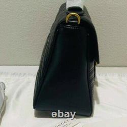 Gucci marmont medium top handle bag black