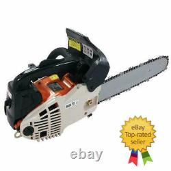 HEAVY DUTY 12 TOP HANDLE PETROL CHAINSAW 25cc LOPPING LOGGING FREE PRUNERS