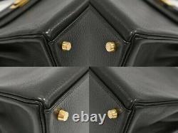 HERMES Kelly 32 Ardenne Leather 2way Satchel Shoulder Top Handle Hand Bag Black