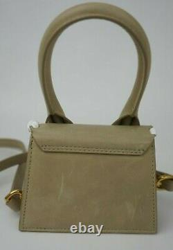 Jacquemus Le Chiquito Whipstitched Tote Beige Leather Mini Top Handle Bag